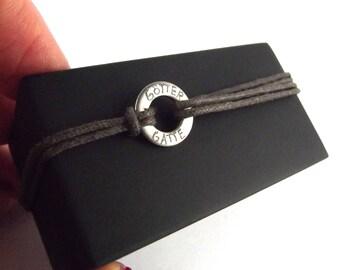 engraved bracelet #03 * Göttergatte masculine stainless steel