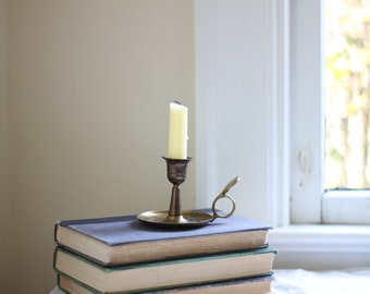 Gold Chamber Stick Candle Holder
