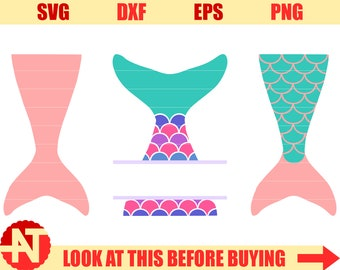 Mermaid Tail SVG Mermaid Scales SVG Mermaid SVG Svg file for Cricut Svg file for Silhouette Vector cut file