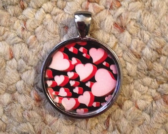 Valentine Heart Image Pendant Necklace-FREE SHIPPING-
