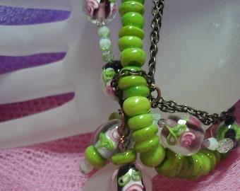 Roses and Greens Bracelet