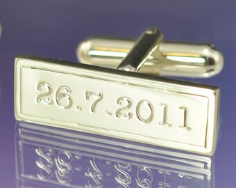 Personalised Date Cufflinks.