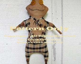 Primitive Frog Pattern, Extreme Primitive Patterns, Primitive Frogs, Sewing Patterns, Primitive Dolls, E-Patterns, Primitive Animals,