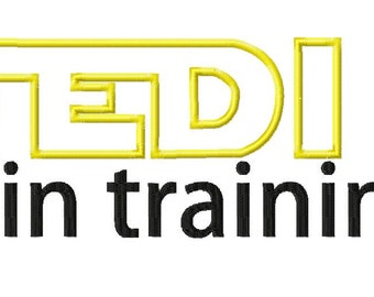 INSTANT DOWNLOAD Jedi in Training Star Wars Inspired Machine Embroidery Design Includes Both Applique and Filled Stitch