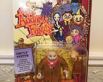 Playmates The Addams Family Uncle Fester Figure Unpunched, MOC, 1992!