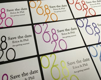 A7 magnetic save the date cards 10 - 50