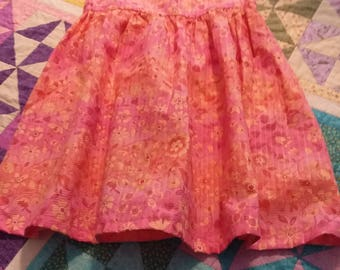 Peach pink Easter or spring dress for a 4-5 year old girl