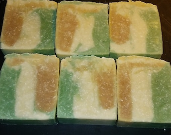 Down to earth sensible, Sandalwood Soap with organic cocoa.
