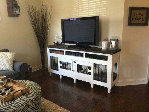 Custom Dog Kennel Entertainment Center