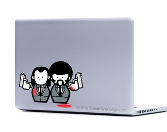 Pulp Fiction Laptop Decal | macbook decal car decal laptop stickers pulp fiction art pulp fiction decal laptop sticker cult movies movie art