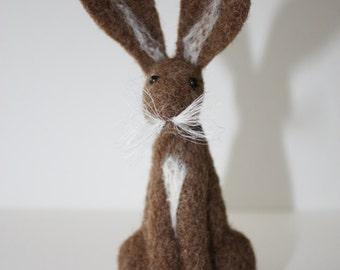 light brown hare needle felt kit ( starter kit )