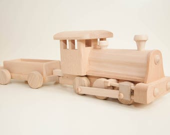 Mr. Crafty Handmade wooden train set classic vintage eco toys large size office gadget