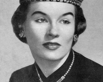 The Mandarin - Vintage Knitted Hat Pattern, 1940s Retro