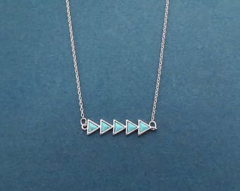 Turquoise, Arrow, Gold, Silver, Necklace, Modern, Love, Necklace, Birthday, Best friends, Sister, Gift, Jewelry