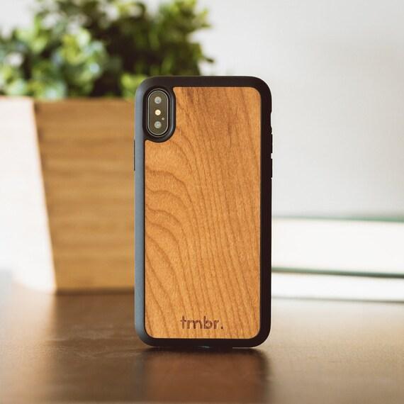 custodia iphone x wood