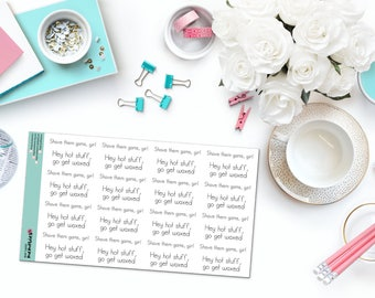 GET WAXED, GIRL Paper Planner Stickers