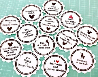 Disney World stickers or card stock