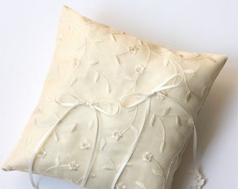 ring cushion silk organza