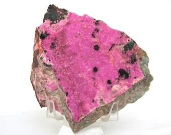 Natural Cobalto Calcite Crystal Druzy on Matrix 6.8oz LARGE Gemstone Mineral Specimen Natural Hot Pink color
