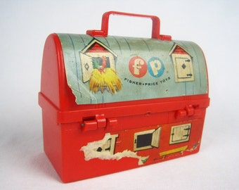 1962 Fisher Price #549 Mini Barn Toy Lunchbox