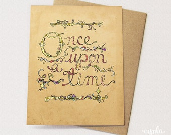 Once Upon a Time Storybook Card - Blank card
