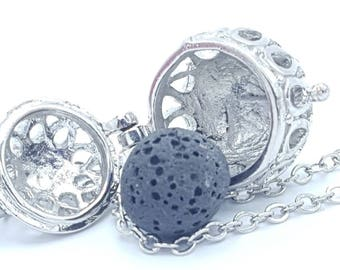 Essential Oil Diffuser Necklace, Lava Stone Diffuser Necklace,