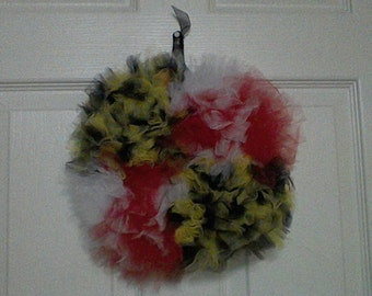 Tulle Maryland Flag Wreath