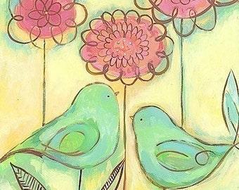 Green Love Birds