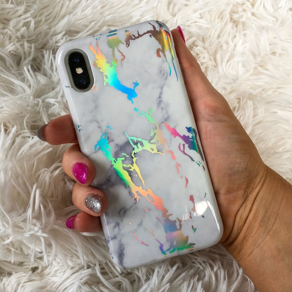 holographic marble iphone 6 case