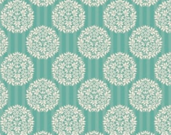 Tilda Spring Lake Flower Ball Teal (Half metre)