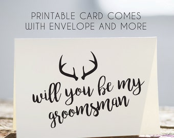will you be my groomsman card, printable groomsman card, digital groomsman card, groomsman download card