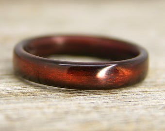 "Shou Sugi Ban ""Torched Cedar""  Bentwood Ring - Handcrafted Bent Wood Ring - Custom Made - Wedding, Engagement, Etc"