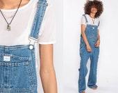 Calvin Klein Overalls Bib Overalls 90s Denim Overalls CK Jean Pants Grunge Baggy Boyfriend Long Jean 1990s Hipster Vintage Medium Large