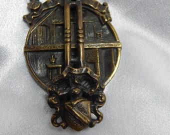William Shakespeare Brass Door Knocker Vintage Serial number