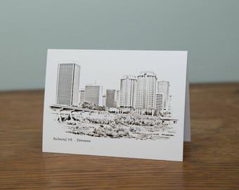 Richmond, Virginia Skyline Greeting Card [Set of 5]