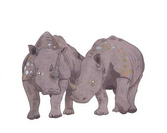 Companions - Rhino Print