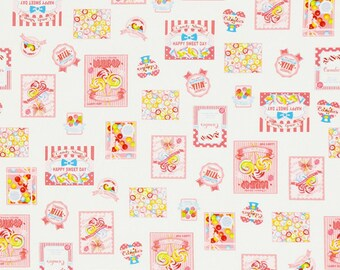 Pink Candy Shop border from the Candy Shop fabric collection by Lecien - 40843L-20