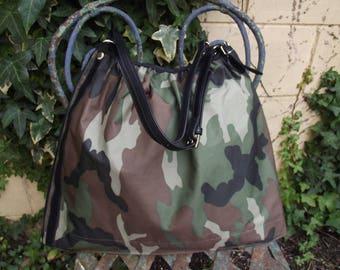 waterproof camouflage print tote bag