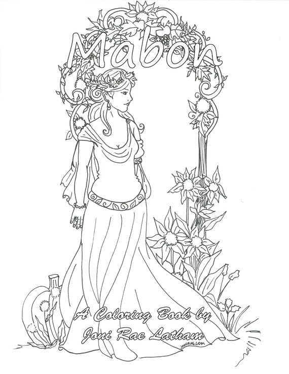 Items Similar To Mabon Pdf Coloring Book On Etsy