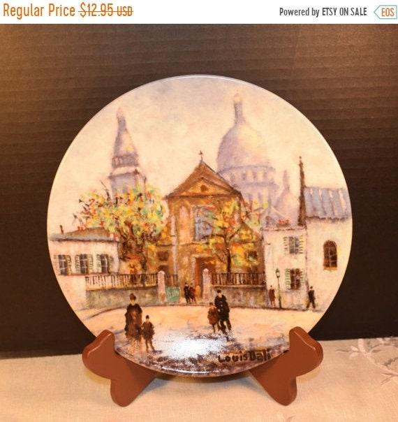 Delayed Shipping D'Arceau Limoges #4 L'Eglise Saint-Pierre et le Sacre-Coeur de Montmartre Louis Dali Vintage French Porcelain Plate 4 of Se