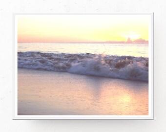 OCEAN SUNRISE PHOTOGRAPH - Coastal Wall Art Sunrise Download, Printable Wall Art, Digital Download, Coastal Decor, Ocean Print, Sunrise