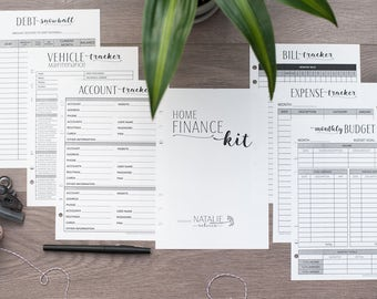 FINANCE A5 Size Printed Budget Inserts, Filofax Finance Kit, Financial Planning Budget Page, Debt Snowball, Kikki K, Mulberry Planner