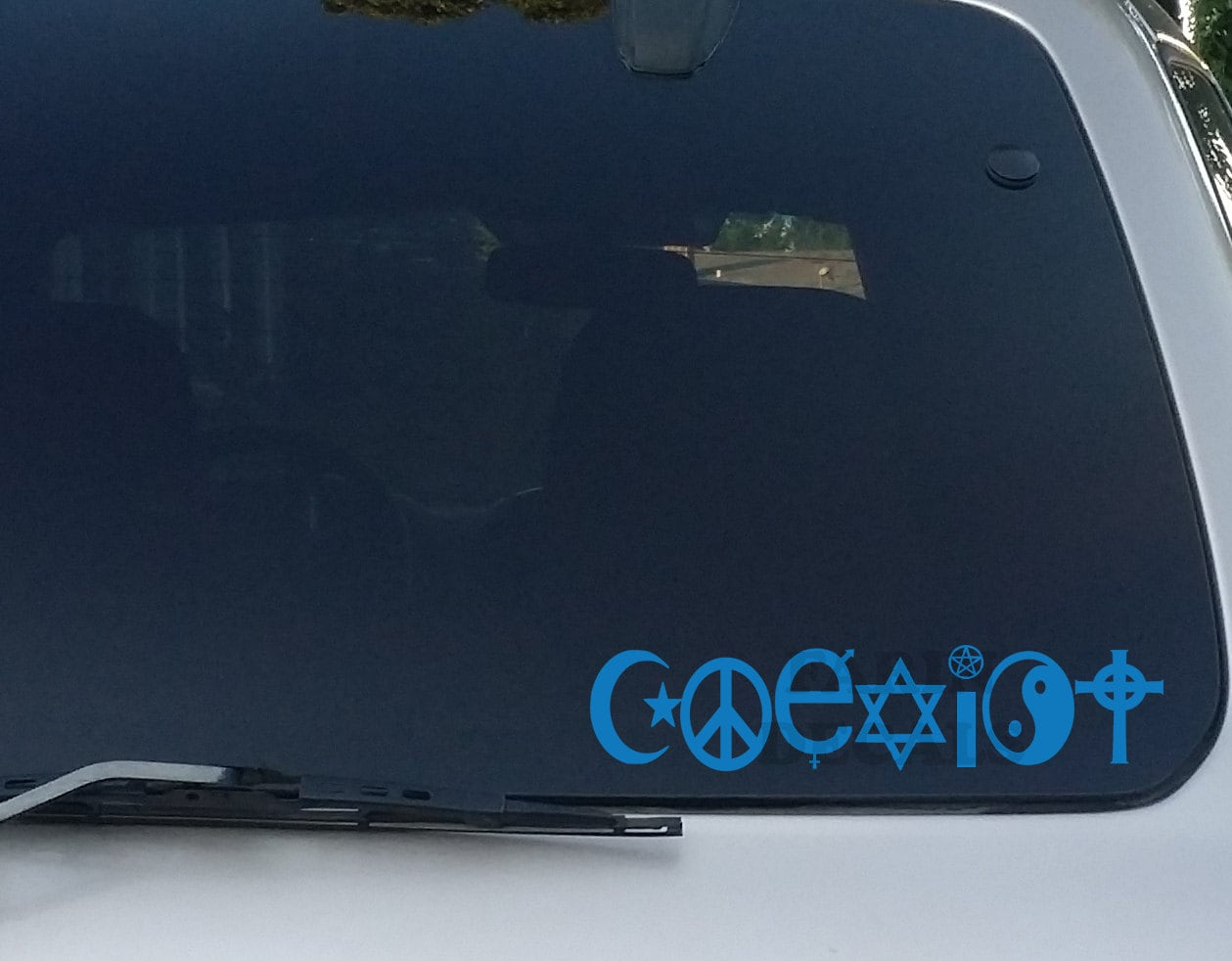 Coexist Decal ReligionHippie Bumper Sticker Car Decal Car - Window decals for cars