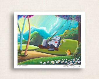 The Swing - ah those frolicing robots - Signed 8x10 Print (6/10)