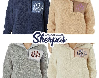 CLEARENCE - Monogram Fleece Sherpa, Sherpa Sweatshirt, Pullover, Adult Sherpa Pullover, Monogrammed Pullover Sherpa, Sherpa Pullover