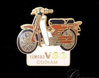 Vintage Metal enamel lapel Pin tie tack backing Motorcycle Yamaha