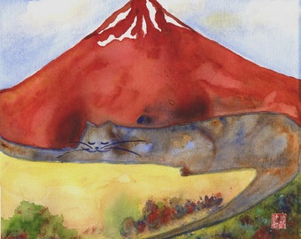 Mt. Fuji Cat - Autumn