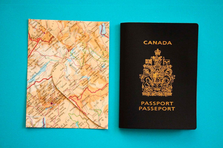 Set of 20 passport size upcycled atlas envelopes - Wedding ...