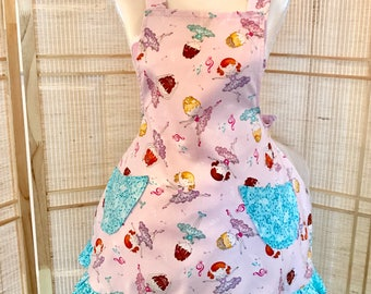 Ballet apron, girls apron, ruffled apron, childs apron