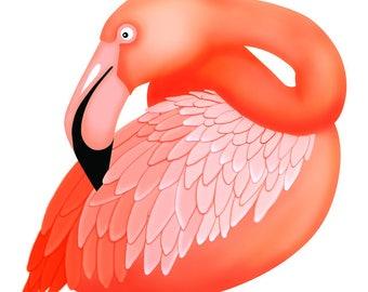 Original Flamingo Illustration Greeting Card